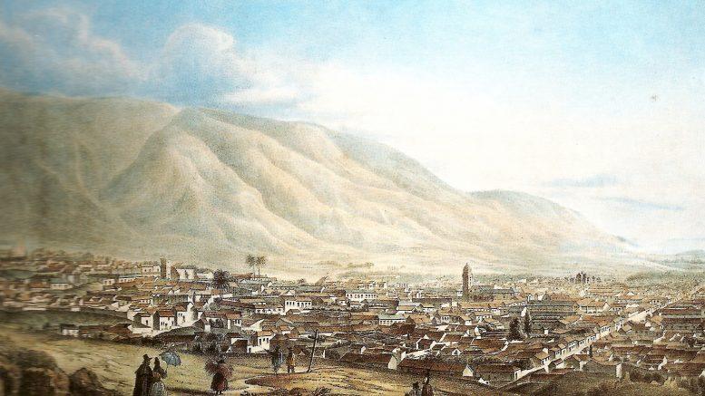 """""""En la Vista de la ciudad de Caracas, del inglés Joseph Thomas - pintor que, según las investigaciones de Alfredo Boulton, entró y salió del país con bastante frecuencia entre los años 1837 y 1844."""